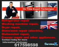 We service all types and brands of appliances in G